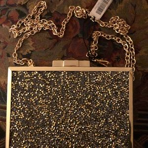 NWT Kate Landry clutch box purse with strap